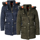 Annie Honeycomb Quilted Fur Hood Coat  womens Size
