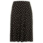 Evans swishy black/white polka dot skirt~Stretch waist~18 20 22 24 28 30 32~New