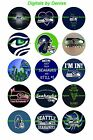 "SEATTLE SEAHAWKS 1 "" CIRCLES  BOTTLE CAP IMAGES. $2.45-$5.50  **FREE SHIPPING** $2.45 USD on eBay"