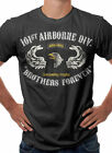 US Army 101st Airborne Division Military Themed Retro T-Shirt Black S M L XL XXL