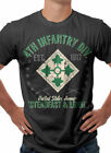 US Army 4th Infantry Division Military Themed Retro T-Shirt Black S M L XL XXL