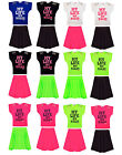 Girls My Life My Rule Top & Skater Skirt Set Children Outfit Party Sets 7-13Year