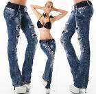 Sexy New Women's Dark Blue Bootcut Stretchy Jeans Trousers  Incl. Belt Y 012