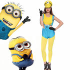 Damen Minion Kostüme Despicable Me 2 II Fancy Dress Karneval Gr.S Gr.M Gr.L