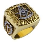 Masonic Past Master Ring 18K Gold Plated Unique Design Freemasonry