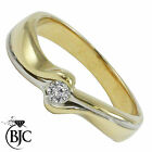 BJC® 9ct yellow gold Diamond 0.10ct Solitaire size M engagement dress ring R77