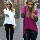 Sexy Fashion Women Casual Long Sleeve Crewneck Loose Blouse T--Shirt Tops New
