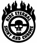 Ride Eternal Shiny and Chrome War Boy Inspired Mad Max Fury Road Vinyl Decal