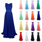 Long Chiffon Formal Gown Party Cocktail Evening Bridesmaid Dress Size 6-22