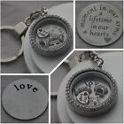 I love my Dog Filled Memory locket  Keyring + Plate + dog charms