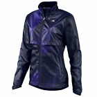 adidas Womens Light Woven Running Fitness Training Jacket Black/Purple