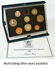 Royal Mint - Proof Coin Year Sets - Blue Deluxe - Pick year 1983 - 1999 Birthday