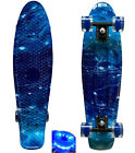 "LMAI 27''/22"" Cruiser Skateboard Graphic Galaxy Starry Penny Nickel Style Board image"