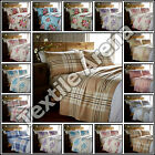 Flannelette Sheet Set Plain & Printed Fitted, Flat Sheet &Pillowcases 100%Cotton