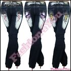 Ladies Jeans Plus Size Womens Trousers Crazy Age Tattoo Big Size 14,16,18,20,22