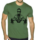 Buff Abraham Lincoln Military Green T Shirt Muscle Workout Gym Beast MMA Tee image