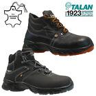 NEW MENS LEATHER SAFETY WORK BOOTS STEEL TOE CAP ANKLE HIKER SHOES SIZE UK 6-11