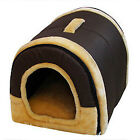 Pet Dog Cat Bed House Warm Soft Mat Puppy Bedding Igloo Basket Kennel Washable