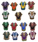 Внешний вид - Mens Dashiki Shirt African Clothing Hippie Top Caftan Boho Vintage Blouse 1size