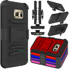 Hybrid Impact 3-Layer Shockproof Matte Case Cover For Samsung Galaxy S7/S7 Edge