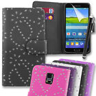 Sparkly Diamond Wallet Case for Samsung Galaxy S5 (SM-G900) + Free Stylus Pen