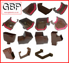 New UPVC Plastic Square Brown Guttering and Gutter Down Pipe Fittings