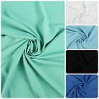 Plain Polyester All Way Stretch Fabric - Various Colours (Per Metre)