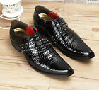 New Mens Wedding Studded Rivet England Style Punk Pointed Toe Dress Formal Shoes