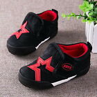 NEW Fashion Baby Toddler's BOYS Star Black Sports Casual Canvas Shoes