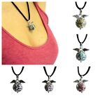 925 Silver Angel Wings & Bell Colours Necklace - Cord & Pendant Cage Locket