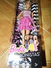 Barbie FASHIONISTAS Glam ** Party Puppe 30cm original mit Kleid Tasche