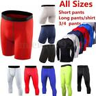 Mens Compression Shorts Base layer Briefs Thermal Sports Skins Shirt Tight Pants