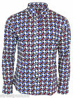 Run & Fly Mens Circle Retro Psychedelic Pop Op Art Vintage Button Down Shirt NEW