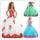 Flower Girl Dresses for Prom School Party Princess Wedding Ball Gown Pageant 4