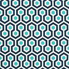 Premier Prints Magna Oxford Navy Blue OUTDOOR Geometric Fabric - by the Yard