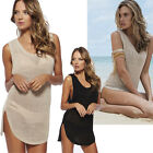 Women Summer knitting Sexy Hollow Crochet Swimwear Bikini Cover Up Beach Dresses