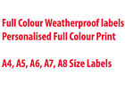 Full Colour Weatherproof Label / Sticker Printing , Leaflets, A4,A5,A6,A7,A8
