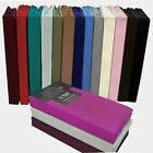 """16"""" DEEP BOX  PERCALE FITTED SHEETS EASY CARE  ALL SIZE ,16 COLOURS AVAILABLE  image"""