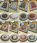 SMALL- X LARGE TRADITIONAL CLASSIC THICK LUXURY SOFT WOOL-LOOK AREA RUGS ROUND
