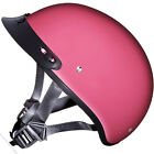 SMALLEST DOT Daytona WOMENS GLOSS PINK Motorcycle Half Helmet LOW PROFILE D1D
