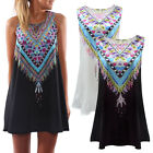 New Womens Ladies Jumpsuit Mini Playsuit Summer Shorts Beach Boho Print Dress UK