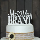 Customized Wedding Cake Topper, Acrylic Silver Glitter Personalized Cake Topper