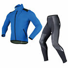 Sobike Cycling Suits Fleece Winter Warm Blue Jacket-Alien , Fleece Tights-Shark