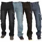 MENS BRAND NEW STRAIGHT LEG JEANS ENZO IN DARK WASH LIGHTWASH BLACK COLOURS