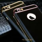 Luxury Hybrid Rubber Shockproof Hard Mirror Cover Case For iPhone 6 6S Plus