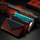 Genuine Real Leather Envelope Style Card Wallet Case Cover For iPhone 6 6s Plus