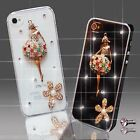 NEW 3D DELUX COOL BLING BALLERINA DIAMANTE CASE COVER 4 VARIOUS MOBILE PHONES UK