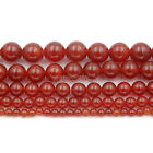 Natural Red Agate Gemstones Round Beads 15.5'' 2mm 4mm 6mm 8mm 10mm 12mm 14mm