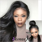 "Soft Straight 100% Remy Human Hair  Full Lace Wig 14""-24""  Ponytail Baby Hair"