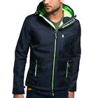 Superdry Hooded Windtrecker Men's Jacket Navy/Fluro Lime m50mz000f2-giu